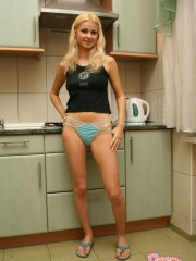 Teen Girl Erica Nude In The Kitchen - Picture 1